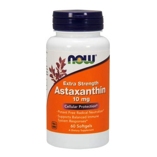 Astaxanthin, 10 mg, 60 sgels by Now Foods (Pack of 3)