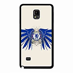 Chelsea Football Team Logo Phone Funda Black Samsung Galaxy Note 4,Chelsea Football Team Phone Funda For Samsung Galaxy Note 4,Samsung Galaxy Note 4 Funda