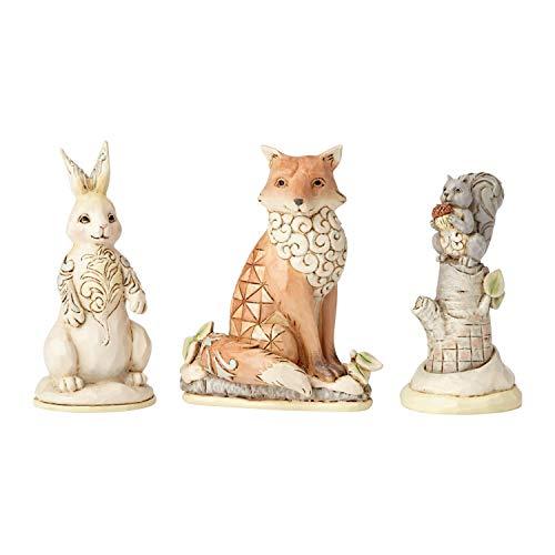 Enesco Jim Shore Heartwood Creek White Woodland Animal Figurine Set, 2.875 , Multicolor