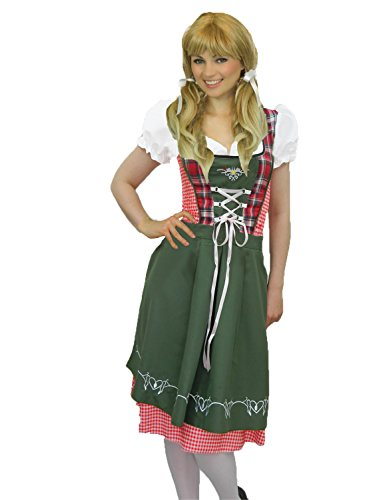 Yummy Bee Womens Oktoberfest Beer Girl Costume Bavarian Green Red Size 2 - 4 Tartan (Bavarian Outfit)