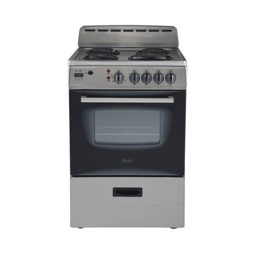 Avanti ER24P3SG 24'' Freestanding Electric Range with Deluxe See-Thru Glass Oven Door in Stainless Steel