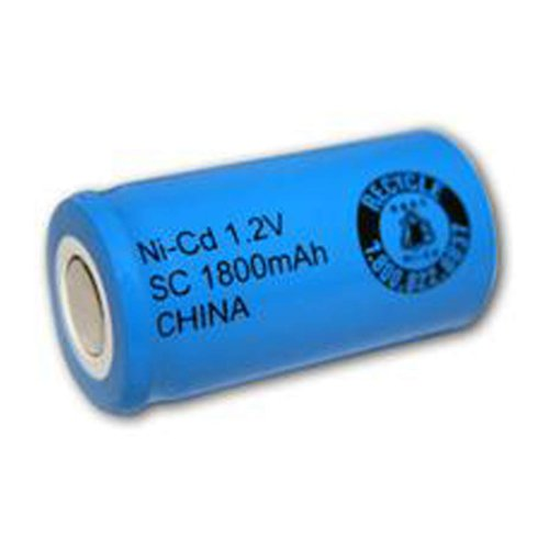 Exell 1.2V 1800mAh NiCD SubC Rechargeable Battery Flat Top Cell Fast USA Ship