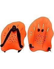 ATopoler 1 paar handpeddels voor zwemmen verstelbare zwemmen training peddels zwemmen training hulp platte peddels training hand peddels voor mannen vrouwen kinderen