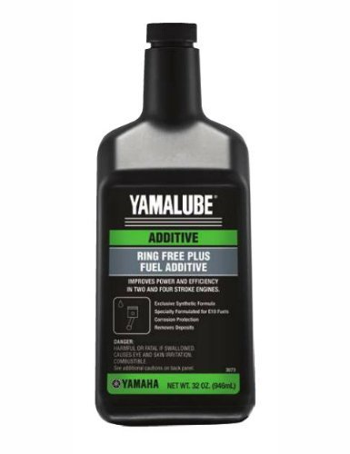 Yamaha ACC-RNGFR-PL-32 Outboard Ring Free Plus Fuel Additive Quart (32 ounce), Pack Of 6 (Fuel Yamaha Stabilizer)