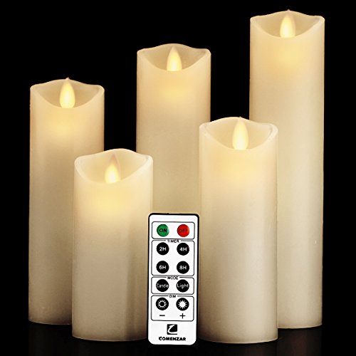 Flameless Candles- Flickering Flameless Candles LED Candles Set 5
