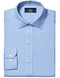 Men's Fitted Spread-Collar Solid Non-Iron Dress Shirt...