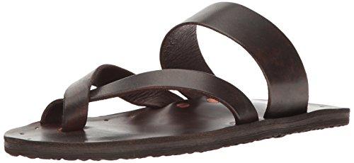 FRYE Men's Cape Strap Toe Ring Sandal, Dark Tan, 9 D US