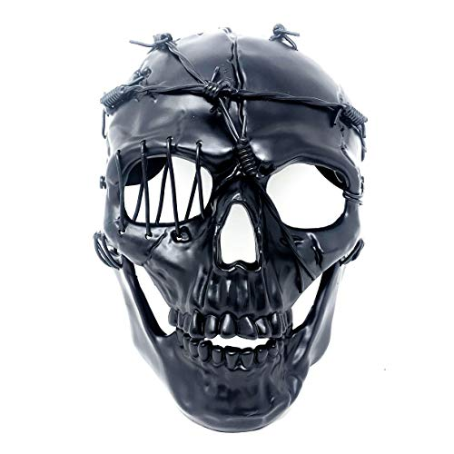 (Storm Buy ] Steampunk Style Metallic Scary Horror Skeleton Mask for Halloween Costume Cosplay Party)