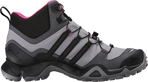 adidas Terrex Swift R Mid Gore-Tex Womens Hiking Shoe 5 Shock Pink/Granite/Black 3
