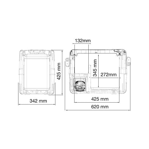 41LJcf0ERNL DOMETIC CoolFreeze CFX 28,tragbare elektrische Kompressor-Kühlbox, 26 Liter, mit USB-Anschluss, 12/24 V und 230 V für…