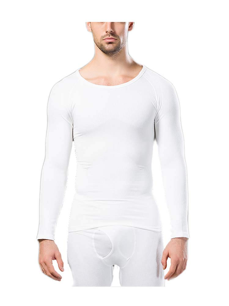 Men's Thermal Top Base Layer Longt Sleeve Compression Shirt Comfortable Tight Fit Body Shaper Rosie