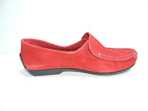 Bernardo Womens Guidabene Red Suede Flat, Moccasin Loafer Size 7 M