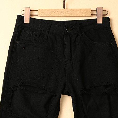Pantalones Tejanos Bermudas EláStico Verano De media Rotos LHWY flecos Cintura De Corto Pantalones Cortos Vaqueros de qHd8C