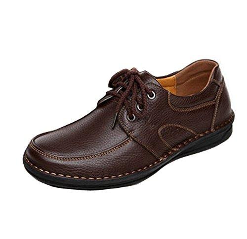 Gaorui Hommes Mocassin Appartements De Conduite Cuir Bateau Pont Chaussures Casual Slip On Mocassins Zapatos Marron