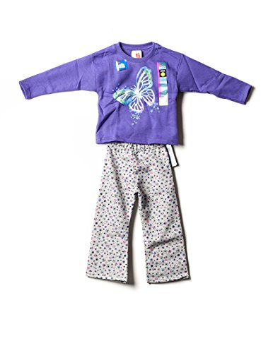 Hanes Premium Little Girls' Sweatshirt and Pant Set Purple 3