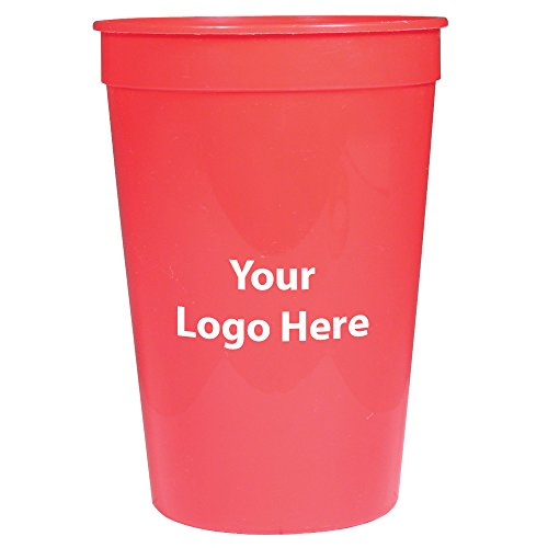 Personalized Stadium Cups - Personalized Custom Stadium Cups - Smooth Finish - 250 Quantity - $0.60 Each - Bulk Promotional Product Branded with Your Logo / Customized. 16-ounce capacity