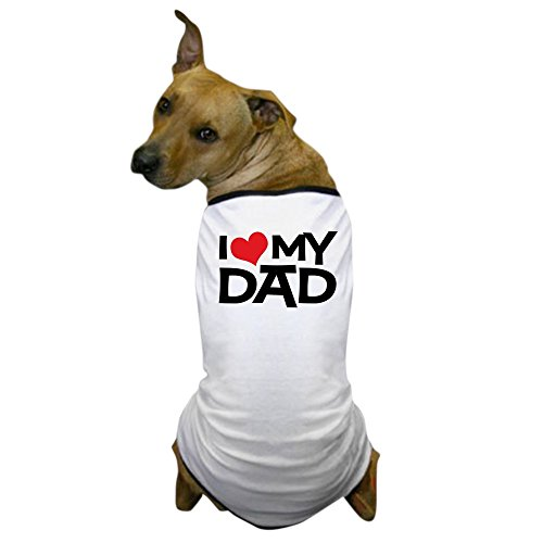 CafePress – I Love My Dad – Dog T-Shirt, Pet Clothing, Funny Dog Costume Review