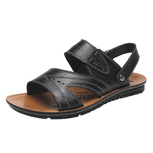 Pantofole Uomo Pelle Casual Spiaggia Da Da In E Vera Pelle Aperte Antiscivolo Le Sandali In Ciabatte Per SFqIwwz
