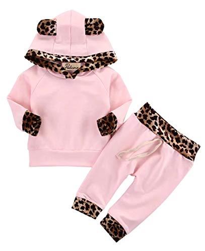 EDOTON Outfits Suit Neonato Bambina Manica Lunghe Cappuccio Vestiti Cappotto Floreale Top Felpa & Pantaloni Due Pezzi… 1