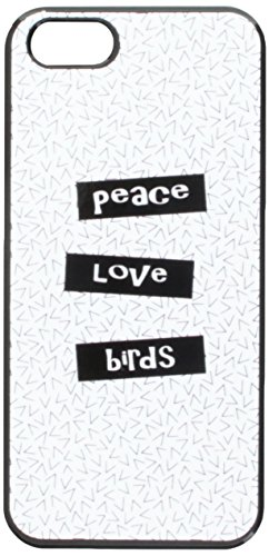 Graphics and More Peace Love Birds Snap-On Hard Protective Case for iPhone 5/5s - Non-Retail Packaging - Black