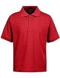 Boys School Uniform Short Sleeve Stain Guard Polo Shirt