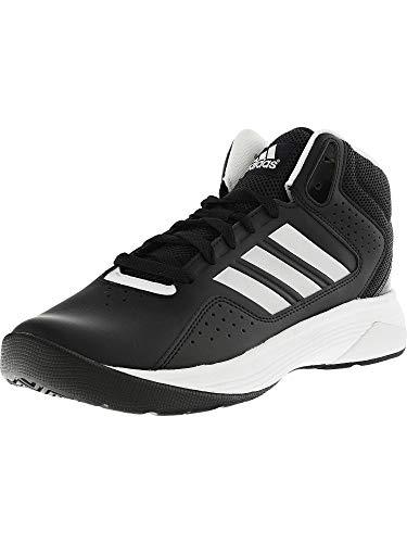 adidas NEO Men's Cloudfoam Ilation Mid Basketball Shoe,Black/Metallic Silver/White,10.5 M US