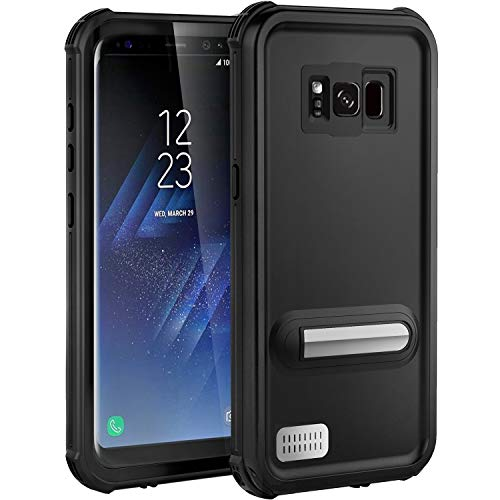 ASAKUKI Galaxy S8 Plus Waterproof Case - IP68 Certified Case, Full Body Protective, Shockproof, Scratch-Proof, Dustproof Case with Built-in Screen Protector for Samsung Galaxy S8 Plus - Black
