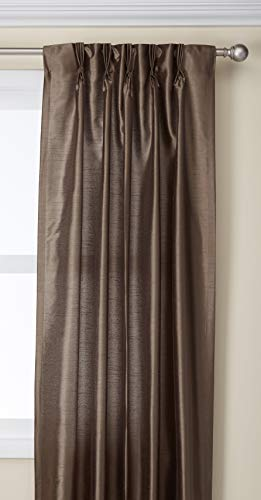 Curtainworks Marquee Faux Silk Pinch Pleat Curtain Panel, 30 by 95