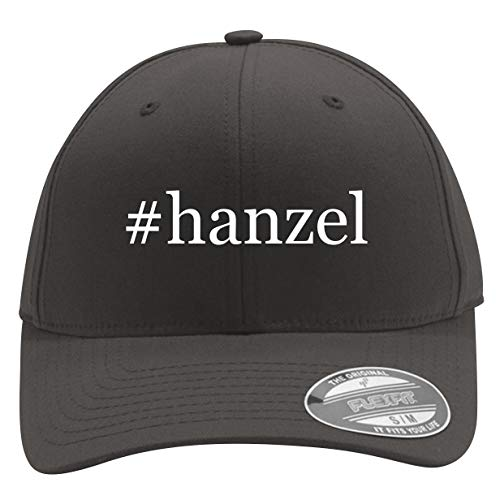 #Hanzel - Men's Hashtag Flexfit Baseball Cap Hat, Dark Grey, Large/X-Large