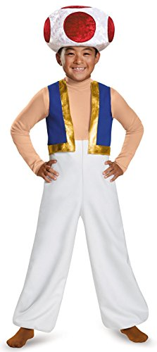 [Disguise Toad Deluxe Costume, Small (4-6)] (Mario Characters Halloween Costumes)