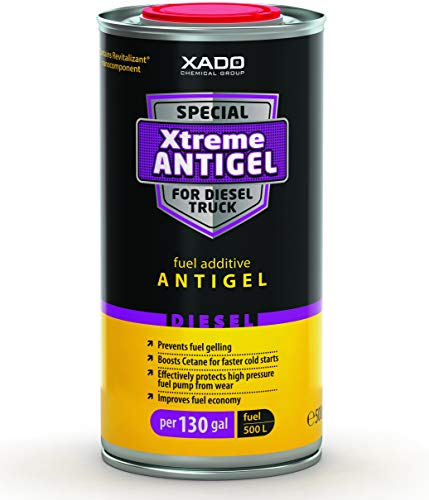 XADO Xtreme Diesel Fuel Antigel - Winter Time Cetane Anti Gel Treatment (can 500 ml) - Treats 130gal of - Anti Fuel Diesel Gel