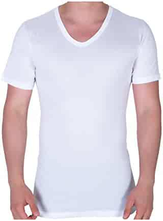 86c95c922c9496 Yildiz Underwear Men's 3 Pack Modal and Combed Cotton V Neck Undershirts,  Super Soft Comfy