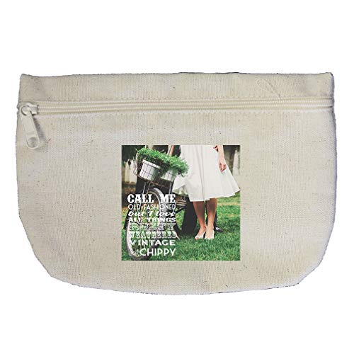 Vintage And Chippy like this Couple with Bike Cotton Canvas Makeup Bag by Style In Print