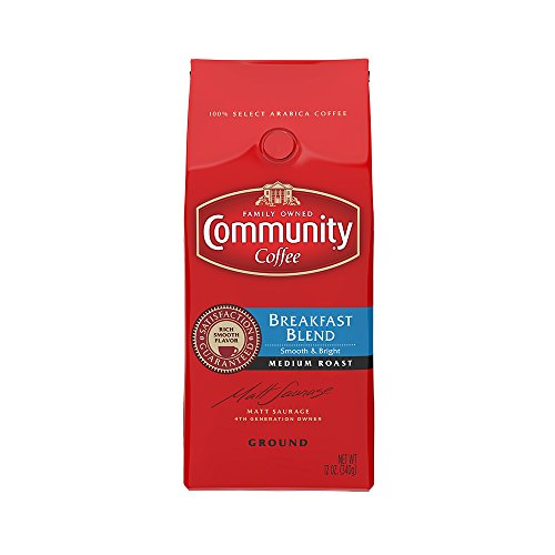 Community Coffee  Breakfast Blend, Ground Coffee, 12 oz, 3 Count