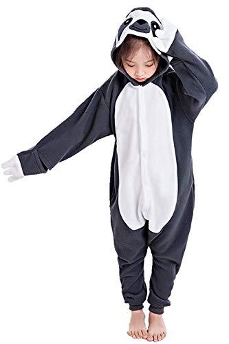 CANASOUR Unisex Custume Halloween Kids Costume Party Children Cosplay Pyjamas (115#(Size 8), Grey Sloth)