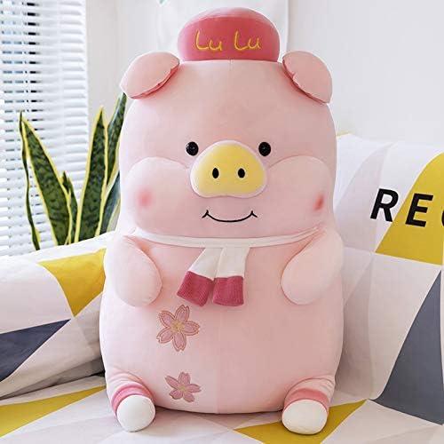14 Inch Schattig Roze Varken Pluche Knuffeldier Cilindrisch Lichaam Kussen, Superzachte Cartoon Knuffelen Speelgoed Geschenken,85cm
