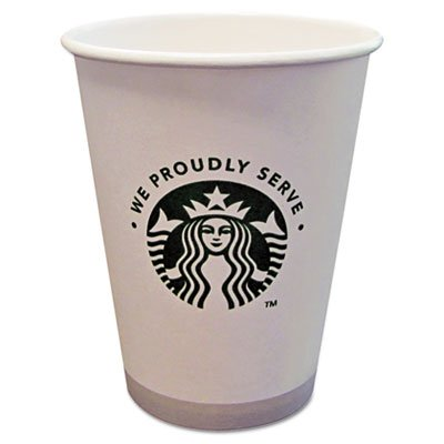 Hot Cups, 12 oz., 1000/CT, White/We Proudly Serve, Sold as 1 Carton