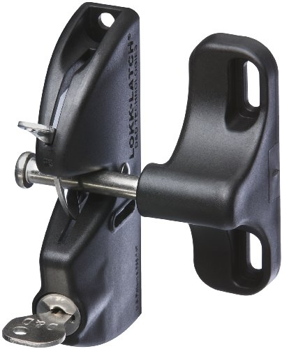 - National Hardware N346-201 V6201 LokkLatch in Black, 4-9/16