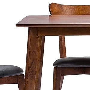 Baxton Studio Sumner 5 Piece Rectangular Dining Table Set