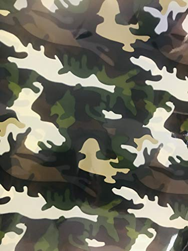 Camouflage Gift Wrapping Paper 20 Inch x 20 Inch Sheets Bulk Pack of 20 -