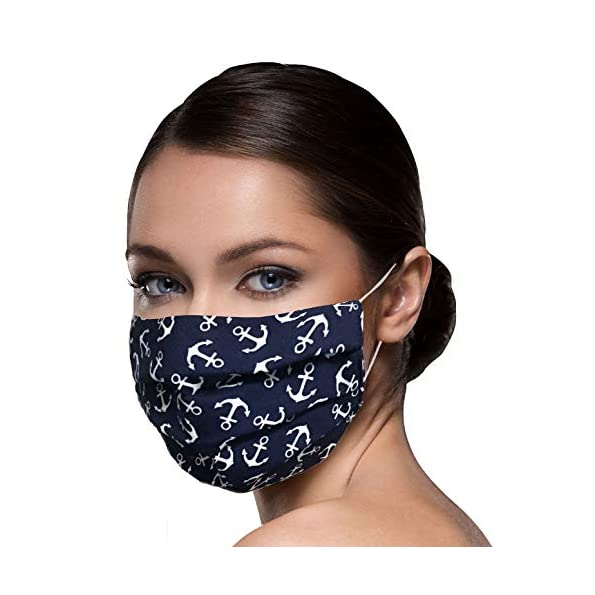 Unisex-Stoffmasken-Mundschutz-Maske-Stoff-100-Baumwolle-Mund-Nasen-Schutzmaske-mit-Motiv-Mund-und-Nasenschutz-Maske-waschbar-maritim-ANKER-Motiv
