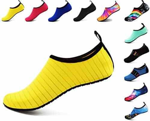 257b50723a62 GUPYING Womens Mens Water Shoes Barefoot Beach Pool Shoes Quick-Dry Aqua  Socks for Surf