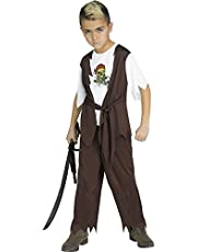 Fun World Skull Pirate Costume, Small 4 - 6, Multicolor