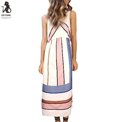 Kleid Transer® Damen Lange Abendkleid OAusschnitt Outdoor Urlaub ...
