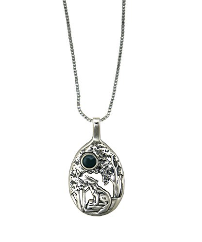 The Howling Wolf Sterling Silver with Bloodstone Made in America Other