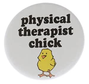 "Physical Therapist Chick 2.25"" Bottle Opener w/ Keyring (heart) - Girly Girl"