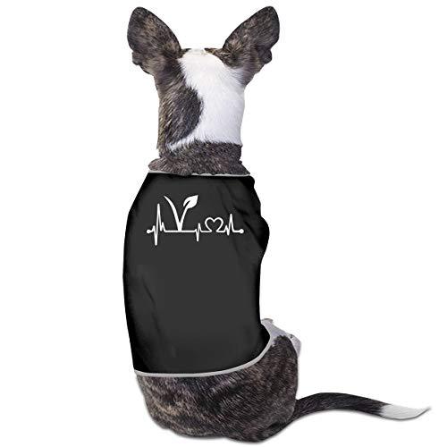 LNUO-2 Pet T-Shirts, Vegan Vegetarian Heartbeat Dog Cat Shirt Clothes Vest T-Shirt ()