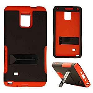 Cell Armor Hopper Case For Samsung Galaxy Note 4, N910 Double Layer Cover (Non Slip, Black) AT&T, T-Mobile, Sprint, Verizon, U.S Cellular by mcsharks