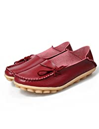 iCozi Women's Leather Casual Loafer Shoes