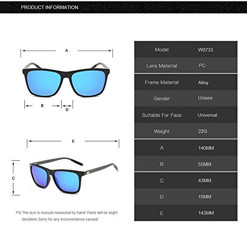 Gray hombre de aluminio Aprigy negro sol Gafas azul polarizadas Clear TR90 para de y zg18qpW1w
